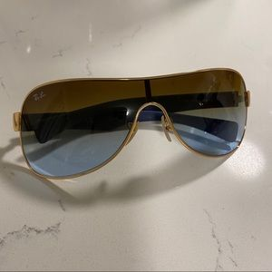 Raybands blue and gold